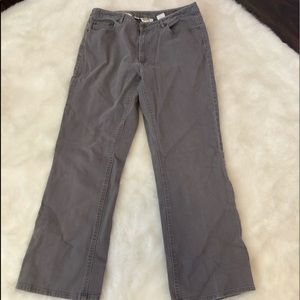 Talbots Womans 12W Gray Stretch Jeans Embroidered